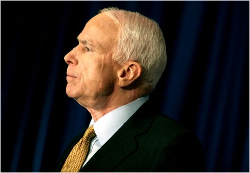 The scars on John McCain's puffy left cheek are reminders of the extensive surgery he underwent in 2000 to remove a mmelanoma.