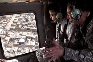 Barack Obama toured Iraq with Gen. David Petraeus in July of this year.